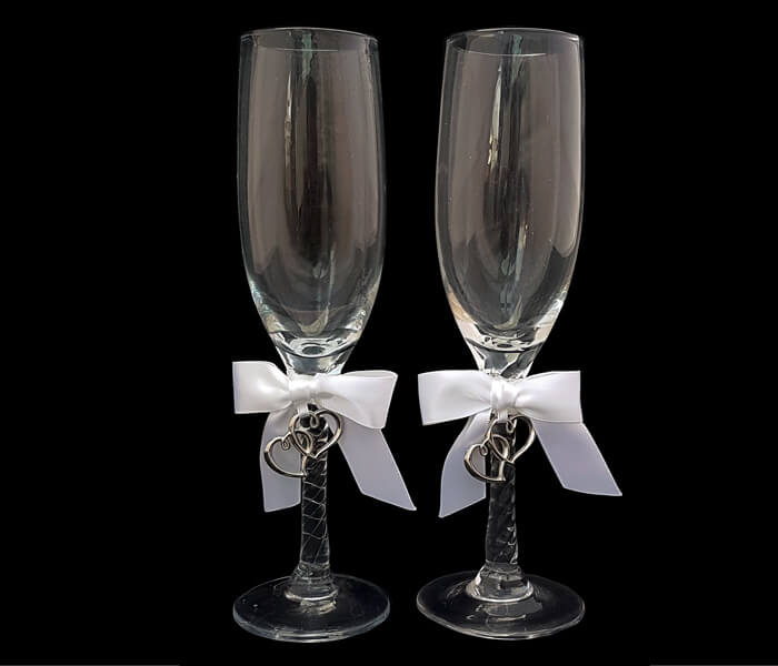 120-537 Toasting Glasses silver Sweetheart 20.00