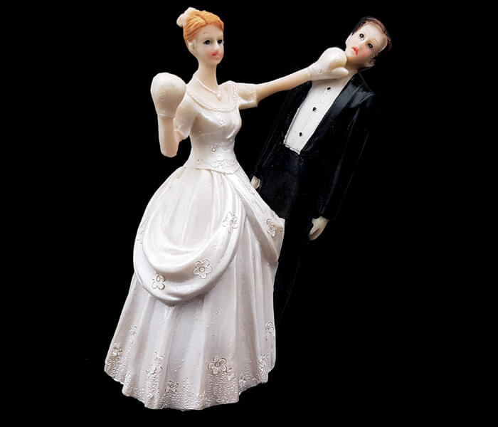 87100 Cake Topper Knockout Puch 6cm wide x 12cm High 5