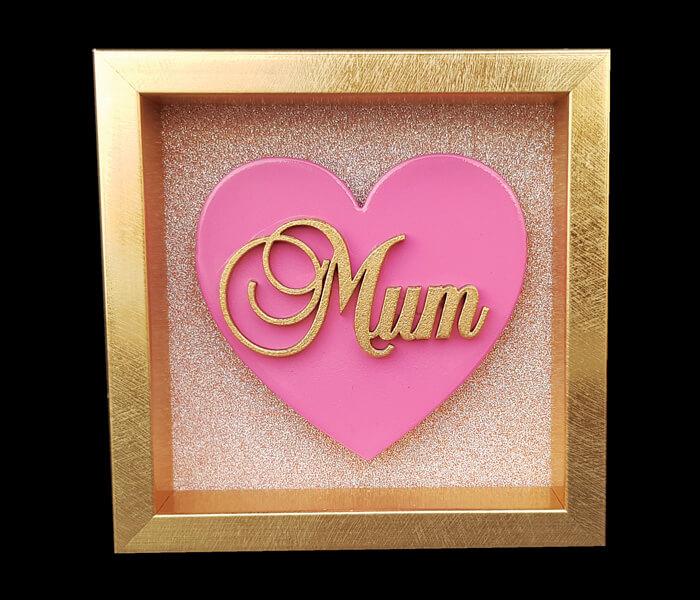 87796-(Mum) $6.95 Small Heart Plaque