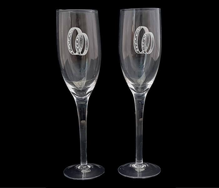 120-097 Toasting Glasses Double Rhinestone Ring 18.00