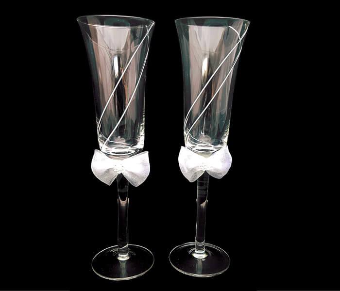 120-716 Toasting Glasses white line 20.00 pra