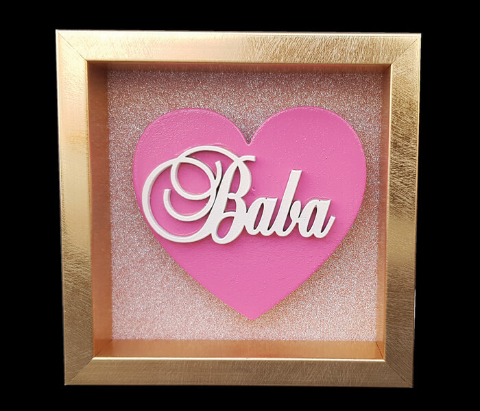 87796-(Baba) $6.95 Small Heart Plaque