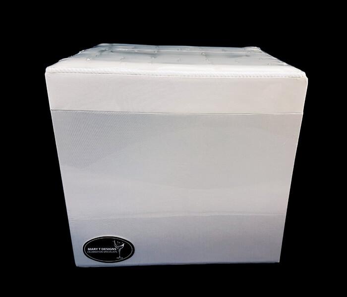 EL-338 Treasure Box Square Pearl Lid- Ivory 21cm width x 25cm Length x 24cm High 25.00