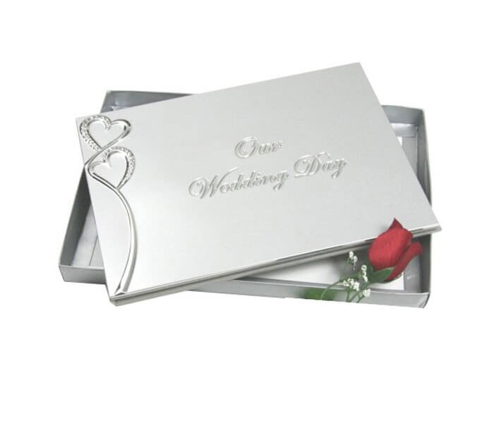 H00W-GS-$19.80 Guestbook _ Pen. Contains 36 Pages (Best Wishes, Guests, Gifts)