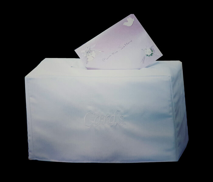 SATINWW-White SATINWW(IV) Ivory Treasure Box Cardboard with Satin Cover 16.5widthx35cm lengthx21cm High 8.00